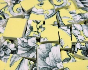 Mosaic Tiles - YeLLoW TOiLE & CHaRMiNG BiRDS - 110 China Mosaic Tiles