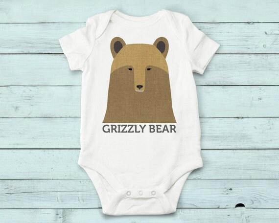 Grizzly Bear - onesie, baby girl, baby boy, baby gift, baby girl clothes, baby boy clothes, baby onesie, bear, cute onesies, infant bodysuit