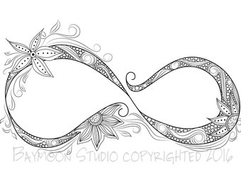 Infinity sign coloring sheets coloring pages for Infinity coloring pages
