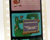 Vintage Childrens Filmstrip - Lollipop Dragon Easter Egg Hunt - Film Strip - 35mm film - childrens story - holiday
