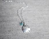Sand Dollar and Crystal Necklace - Blue Ocean
