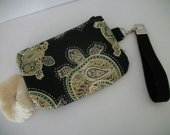 Wristlet with detachable strap, turtles & more !