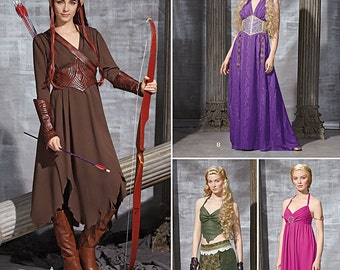 Simplicity 1010-Elf Costume Lord of the Rings Plus Size