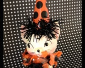 Halloween Decoration Vintage Kitty Cat Halloween Ornament   TVAT
