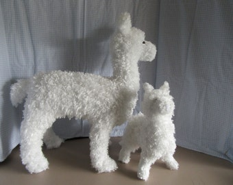 Llama 2 Sizes Stuffed Animal Pattern to Sew NEW! 2 Sizes LLAMA Stuffed Animal Pattern to Sew!
