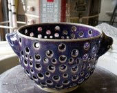 Created for Emeraldgayle - Black Cherry Colander with Handles