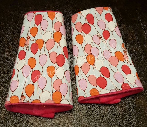 Up and Away bunnies and balloons flared suck pads for Lillibaby Tula Ergo Beco SSC