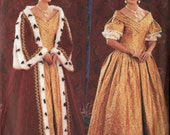 Making Histoy Ball Gown and Queen's Robe Costume Pattern Butterick 3713 Size 6-10 UNCUT