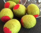 2 inch 4 JUMBO Peace Olives 2 inches long - 50 mm length size - Merino Wool