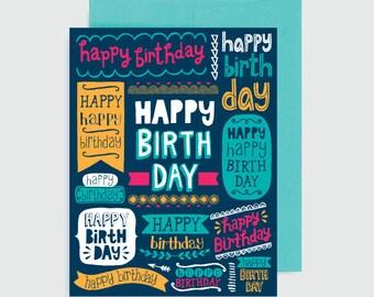 Birthday Card -   Text Birthday