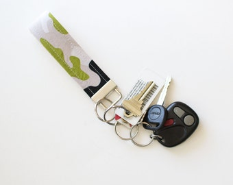 Fabric Key Chain Fob Military Max Camoflauge