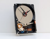 unique gift, Computer gift, geek gift, computer gift, PC clock, Recycled Computer Hard Drive Clock, computer clock, upcycled computer clock