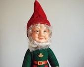 Vintage Leprechaun Doll Irish Elf Figurine St. Patricks Day Toy Gnome Travel Souvenir Shamrock Pin Shannon Retro Collectibles Red Hat