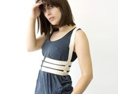 Caged Body Harness, Cage Harness, Cream Body Harness, Underbust Harness, Harness Lingerie, Made in Canada , Norwegian Wood, Bondage, bdsm