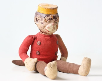 Vintage Monkey Bellhop Toy, Monko Doll 136167