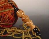 Black Ash Burl And Gabon Ebony Hand Turned Wooden Crochet Hook