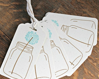 Mason Jar Flower Gift Tags