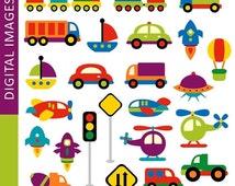 60% OFF SALE Transportation clip art - Awesome Transportation 07333 - Digital Images - commercial use clipart