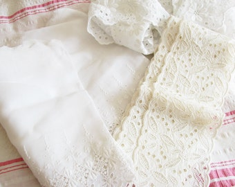 Summer Whites...Beautiful Vintage Eyelet Trim Treasures