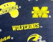 U of M Fleece Fabric 34 inches x 60 inches - University of Michigan