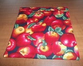 Large Microwave Potato Bag Red Delious Apples All Cotton Fabric and Thread