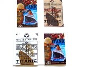 Magnetic bookmarks, Titanic book marks ,  photo bookmarks, free shipping, set of 4,  books, historic, your choice of any photo in my shop