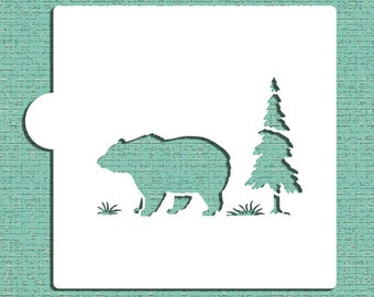 Bear Cookie and Craft Stencil - Designer Stencils (CM055)