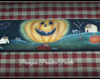 Halloween Wood Rolling Pin Kitchen Home Decoration