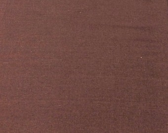 Laundered Rayon/ Linen Fabric  - Brown -  1 Yard - Cotton Fabric / Fabric by Yard / New Fabric / Rayon by Yard