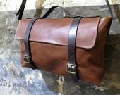 Men's Tan Leather Satchel