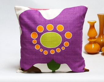 "Mid Century Modern Retro pillow cover - 40x40 / 16x16"" - Handmade with Love from Vintage Fabrics"
