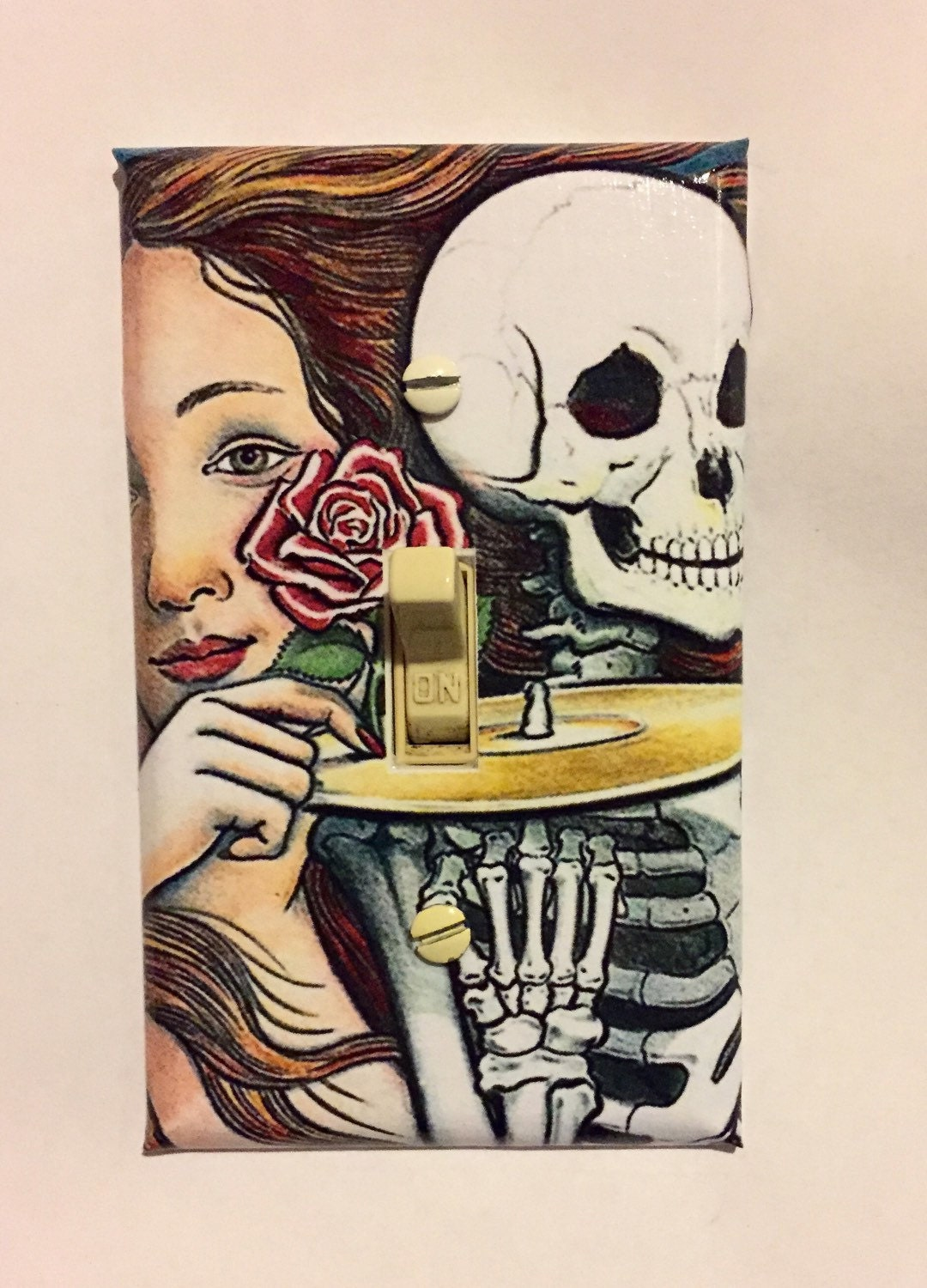 Grateful Dead Art Light Switch Plate Wall Cover Skeletons From