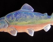 Ceramic Fish wall hanging for home or garden