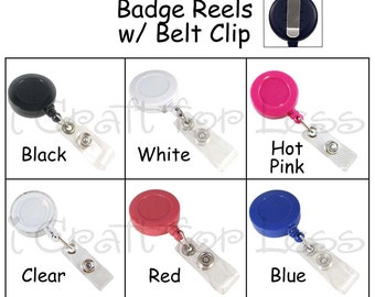 25 Retractable ID Badge Holder / Reels - Vinyl Strap and Slide Clip - SEE COUPON