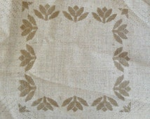 Tan Cross Stitch Afghan Fabric by Zweigart - 67 x 48 inches - Absolutely Gorgeous -