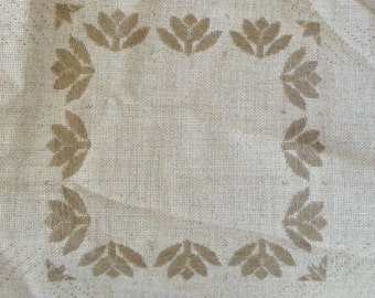 Tan Counted Cross Stitch Afghan Fabric by Zweigart - 67 x 48 inches - Absolutely Gorgeous - Total of 12 Open Blocks for Stitching