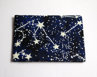 Oyster Card Holder Travel Pass Holder Constellations Stars Space Glow in the Dark
