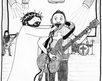 Jesus Invades Worship CARTOON
