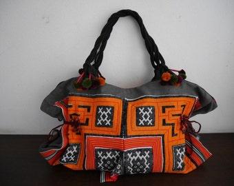 DAZZLING TOTE - Hip / Tribal / Hmong / Miao/ Bohemian/ Ethnic tote -  6012