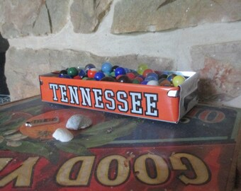 Repurposed Tennessee License Plate Box - FREE SHIPPING - Rustic Storage Box - Vintage Treasure Tray - Planter - Candy Dish