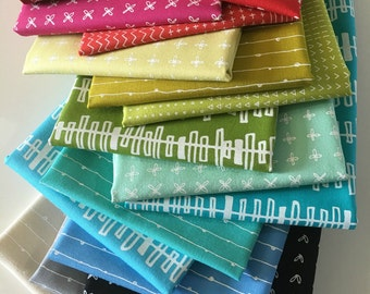 Blueberry Park fabric bundle of 16 by Karen Lewis Textiles for Robert Kaufman, Kona Cotton, Bundle of 16, Choose the Cuts