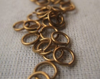 Gold Jewelers Brass Jump Ring 5mm Open Ring 20 Gauge Connector  Item No. 8556 9935