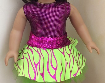 18 inch girl doll dance tutu 15 inch doll clothes Doll Sequin Dance Recital bling leotard American doll tutu Purple doll leotard