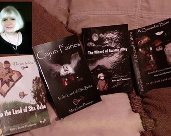 Four Book Bundle by Cajun author Mary Lynn Plaisance, In the DOLL LAND of Sha Bebe