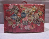 Blythe Large Pink Shabby Chic Suitcase