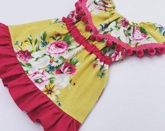 Girls Ruffle Dress Pattern -- Celebration -- sizes newborn -12 girls Instant