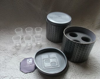 SALE!!!!   Six Rare NIB Retired Swarovski Austrian  Crystal Schnapps/Shot Glasses