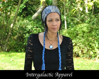 Dreadlock headband, DIVINE LIGHT Dreadband, Reversible Hippie Hair Wrap Intergalactic Apparel, Gypsy clothes