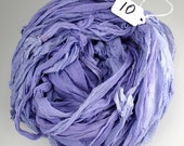Sari silk ribbon, Silk Chiffon sari ribbon, Recycled Silk Sari Ribbon,  lilac ribbon