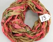 Sari ribbon, Chiffon Silk Ribbon, Multicolor Sari Ribbon, Chiffon sari ribbon